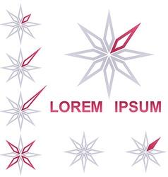 Star corporate symbol design set vector
