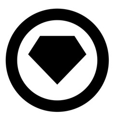 superhero template icon black color in circle vector image