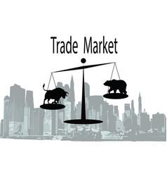 trade market vector image