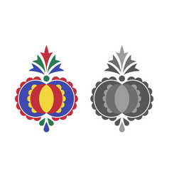 traditional folk ornament the moravian ornament vector image