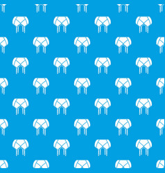 underwear pattern seamless blue vector image