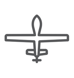 unmanned aerial line icon military and vehicle vector image