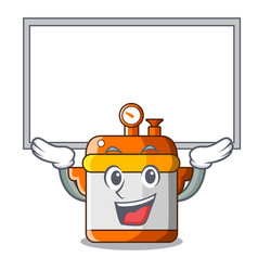 up board character cartoon modern cooker for vector image