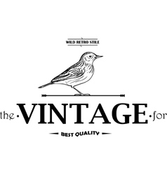 Vintage Labels or Badges Birds vector image