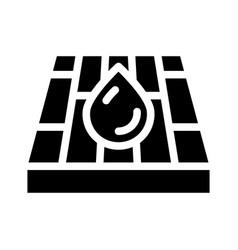 Waterproof layer floor glyph icon vector