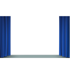 white screen in the cinema with a stage vector image