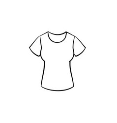 woman tight t-shirt hand drawn sketch icon vector image
