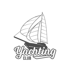 Yacht club badge logo label vector