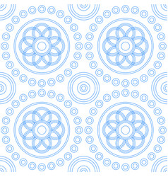 abstract geometric seamless pattern from circles vector image vector image