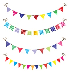 bunting vector image