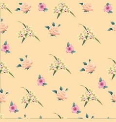 flower background seamless vintage vector image