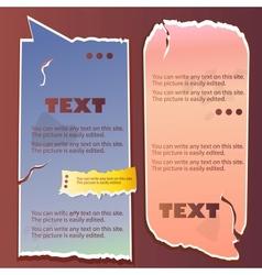 paper bubble for speech vintage vector image vector image