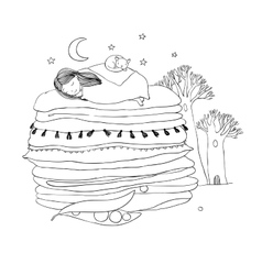 Princess on the Pea vector image vector image