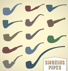 Vintage Smoking Pipes Collection vector image vector image