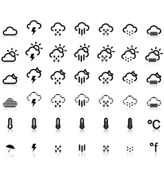 Weather Icons in White Background vector image