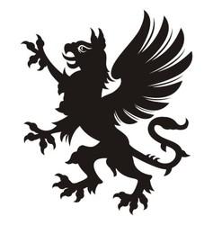 Griffin heraldic tattoo vector image vector image