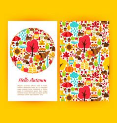 hello autumn flyer template vector image