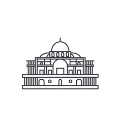 mexico cathedral line icon sign vector image