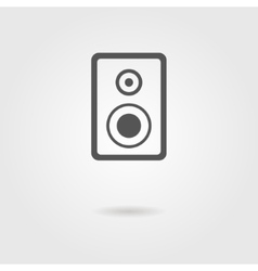 speaker icon with shadow vector image