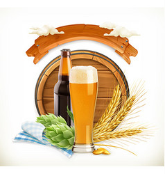 Beer Festival 3d logo vector image vector image