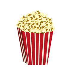 color background with butter popcorn container vector image vector image