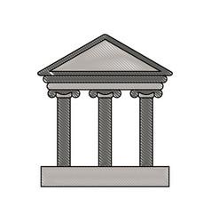 color blurred stripe of parthenon icon vector image