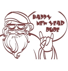 Cool art of Santa Claus Hipster vector image vector image