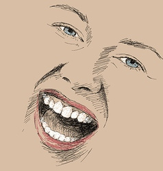 crazy smile vector image