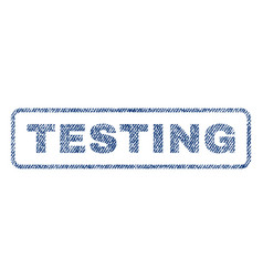 testing textile stamp vector image vector image