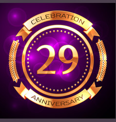 twenty nine years anniversary celebration with vector image vector image