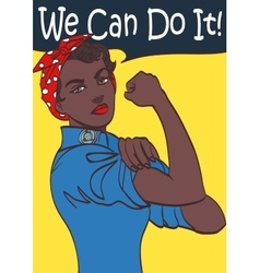 We Can Do It World War 2 poster boosting morale vector image vector image