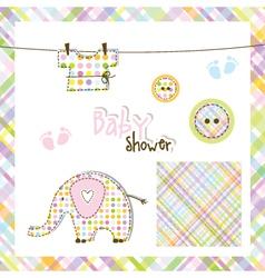 Baby shower design elements vector image vector image