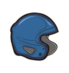 hockey helmet isolated equipment for player vector image