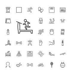 33 fitness icons vector