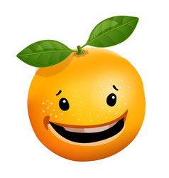 3d stile of orange cartoon character vector image