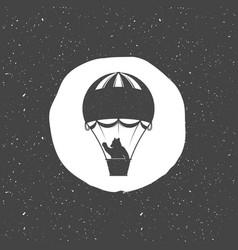 A bear in a balloon vector