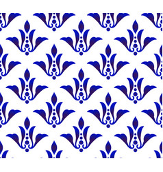 Abstract floral blue pattern vector