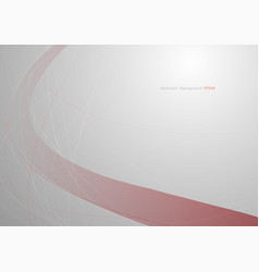 abstract red curve on gray background with light vector image