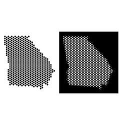 American state georgia map hex-tile mosaic vector