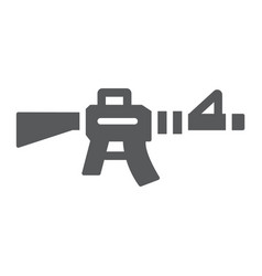 automatic rifle glyph icon army and war gun sign vector image