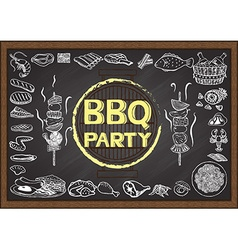 Bbq on chalkboard vector