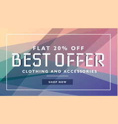 Biggest offer sale discount deal banner template vector