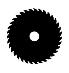 black circular saw sign or icon symbol of vector image