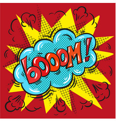 Blast booom on a colored background vector