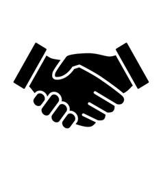 Business handshake or partnership agreement icon vector