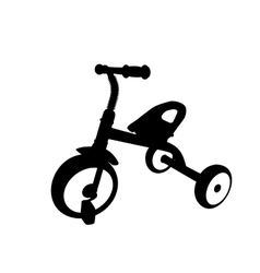 Children Bicycle with Three Wheels Isolated vector image