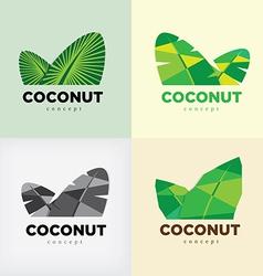 coconut concept logo vector image