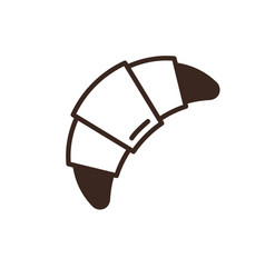 croissant isolated linear style icon vector image