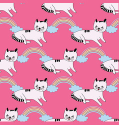 cute seamless pattern background with vector image