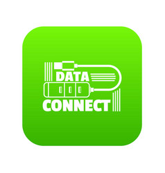 data connect icon green vector image
